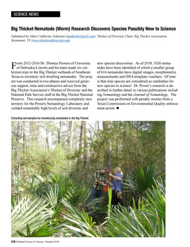 Page 32 of Big Thicket Nematode (Worm) Research Discovers Species Possibly New to Science