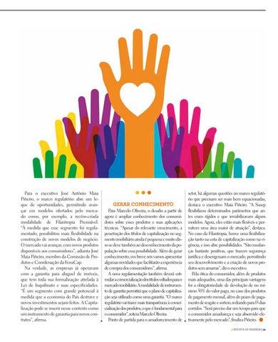 Page 39 of MERCADO DE CAPITALIZAÇÃO JÁ TEM NOVOS PRODUTOS EM 2019