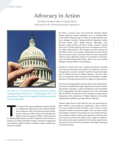 Page 10 of Advocacy in Action