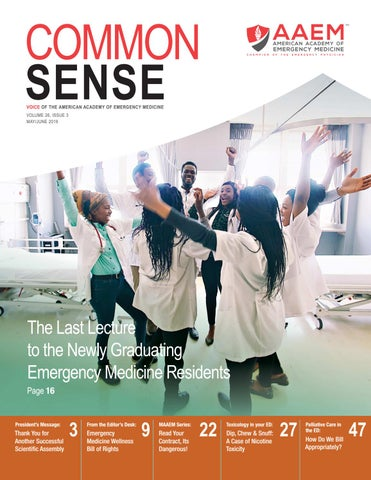 May/June 2019 Common Sense by American Academy of Emergency