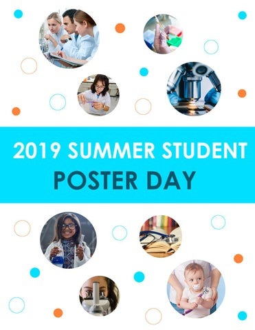 2019 - Summer Student Poster Day by BC Children's Hospital Research