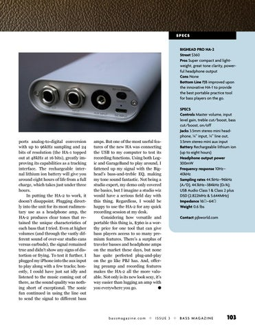 Page 103 of Review: Phil Jones Audio Bighead Pro HA-2