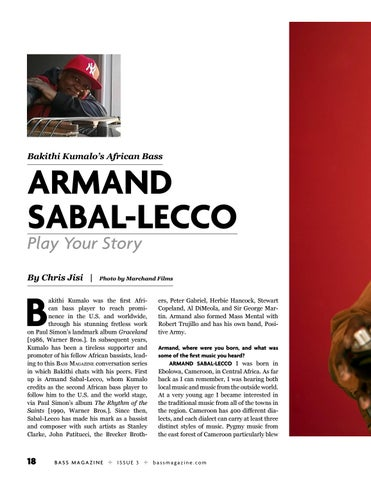 Page 18 of Bakithi Kumalo's African Bass With Armand Sabal-Lecco