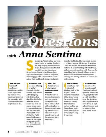 Page 6 of 10 Questions With Anna Sentina