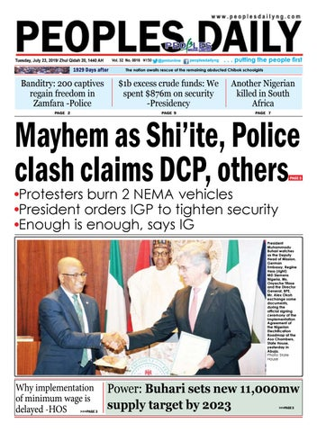 Tuesday, July 23, 2019 Edition by Peoples Media Limited - issuu