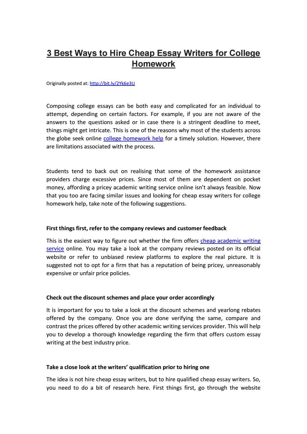 custom essay writing website for college