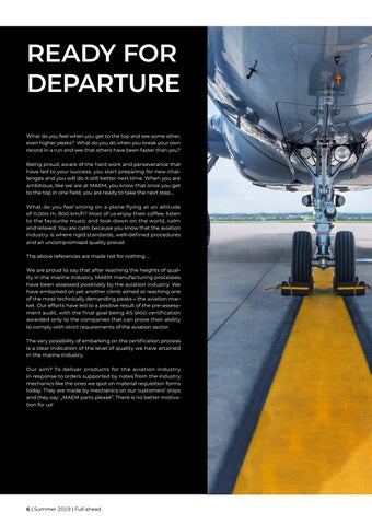 Page 6 of Ready for departure