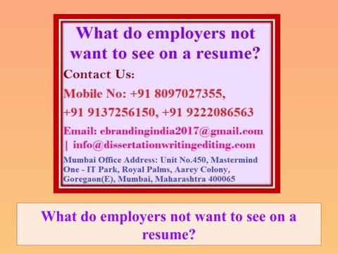 What do employers want to see on a resume esl movie review ghostwriting website online