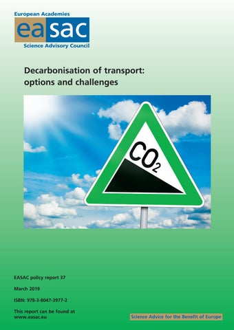 Decarbonisation of Transport: options and challenges by