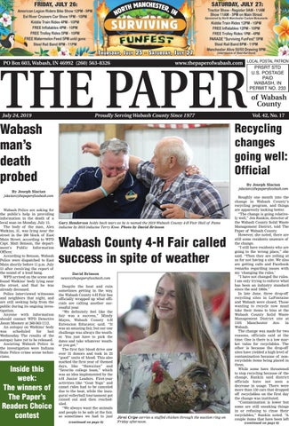 The Paper of Wabash County - July 24, 2019 by The Paper of