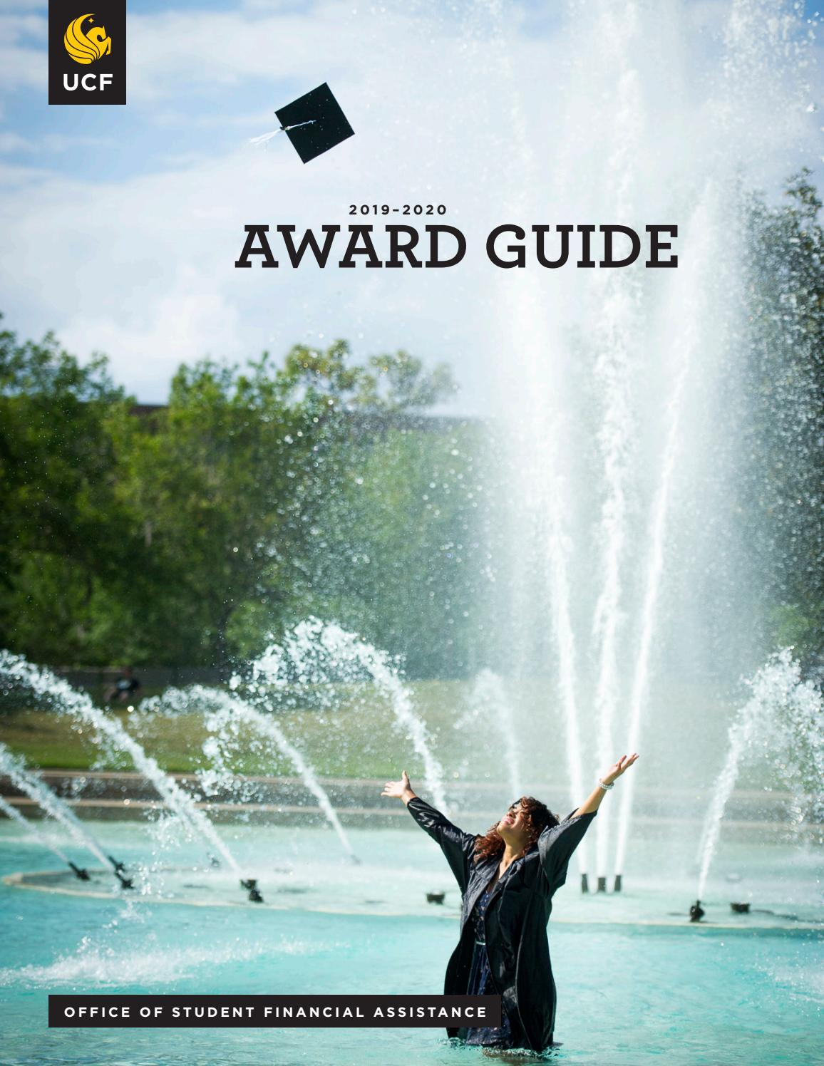 Ucf Spring 2020 Graduation.2019 2020 Award Guide Student Financial Assistance At Ucf