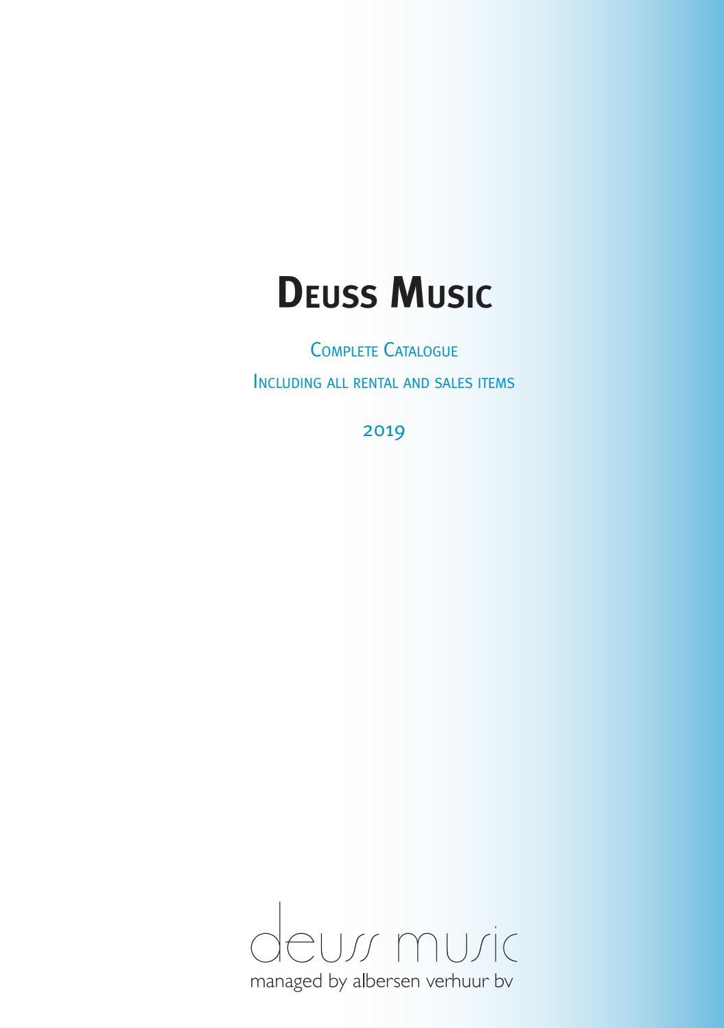 Deuss Music Catalogue 2019 By Deuss Music Issuu