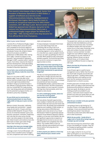 Page 42 of Spotlight Interview with Barry Dowd, Senior Vice President at MDS Global