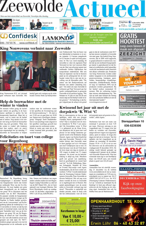 Zeewolde Actueel Week 49 2016 By Brugmedia Bv Issuu