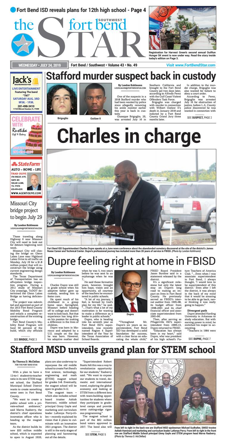 07-24-2019 Edition of the Fort Bend Star by Sugar Land