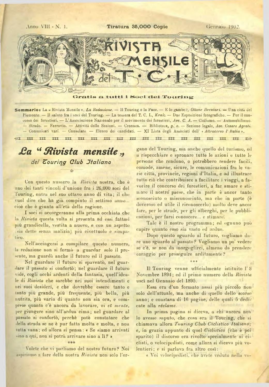Touring Club Italiano Gennaio 1902 by Touring Digital issuu