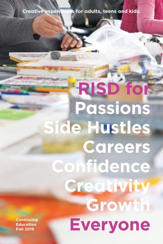 Risd Continuing Education Fall 2019 By Rhode Island School Of Design Issuu