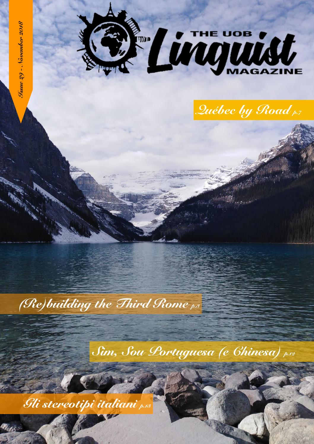 Issue 29 By The Uob Linguist Magazine Issuu