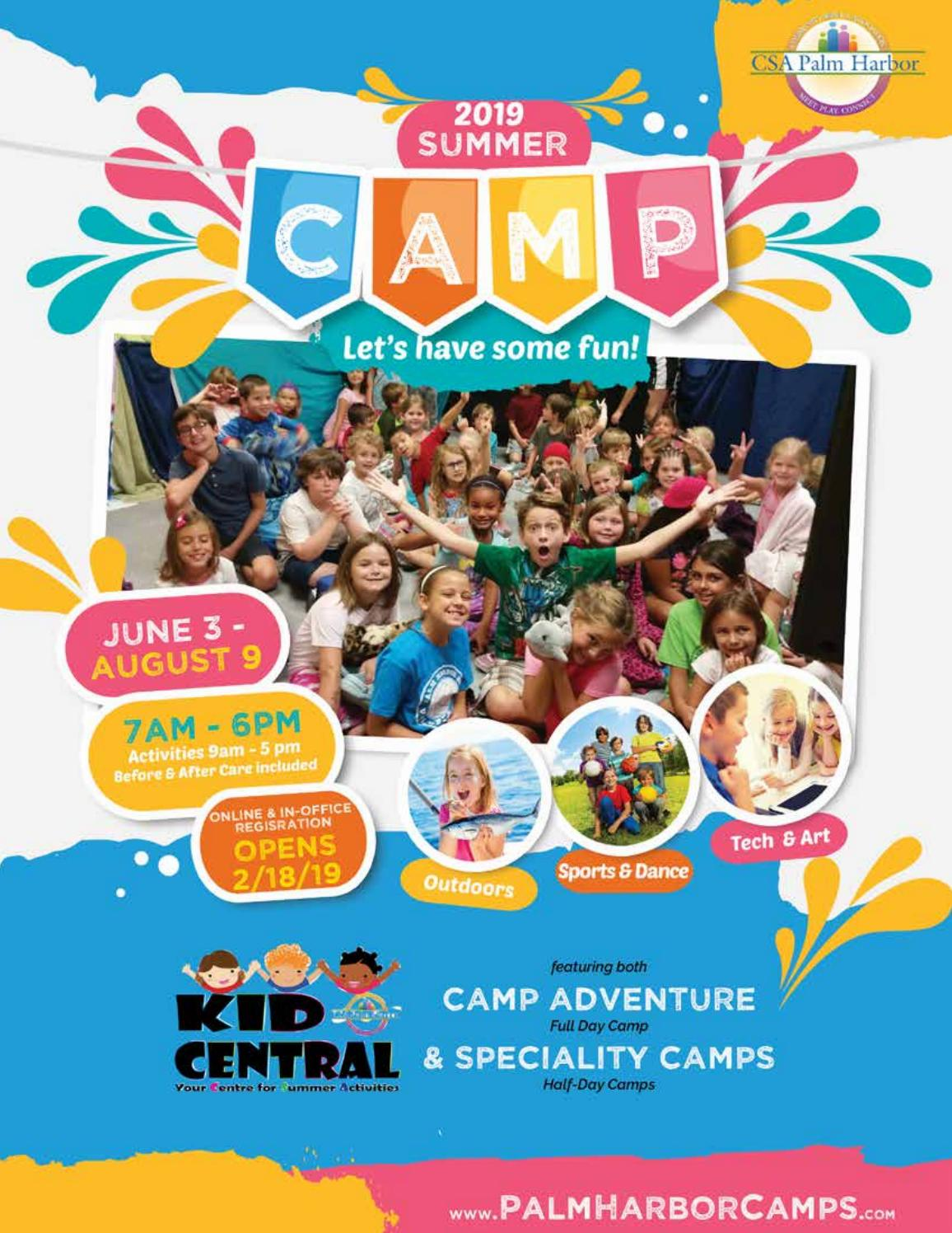 Csa S Summer Camp Guide 2019 By Csa Palm Harbor Issuu