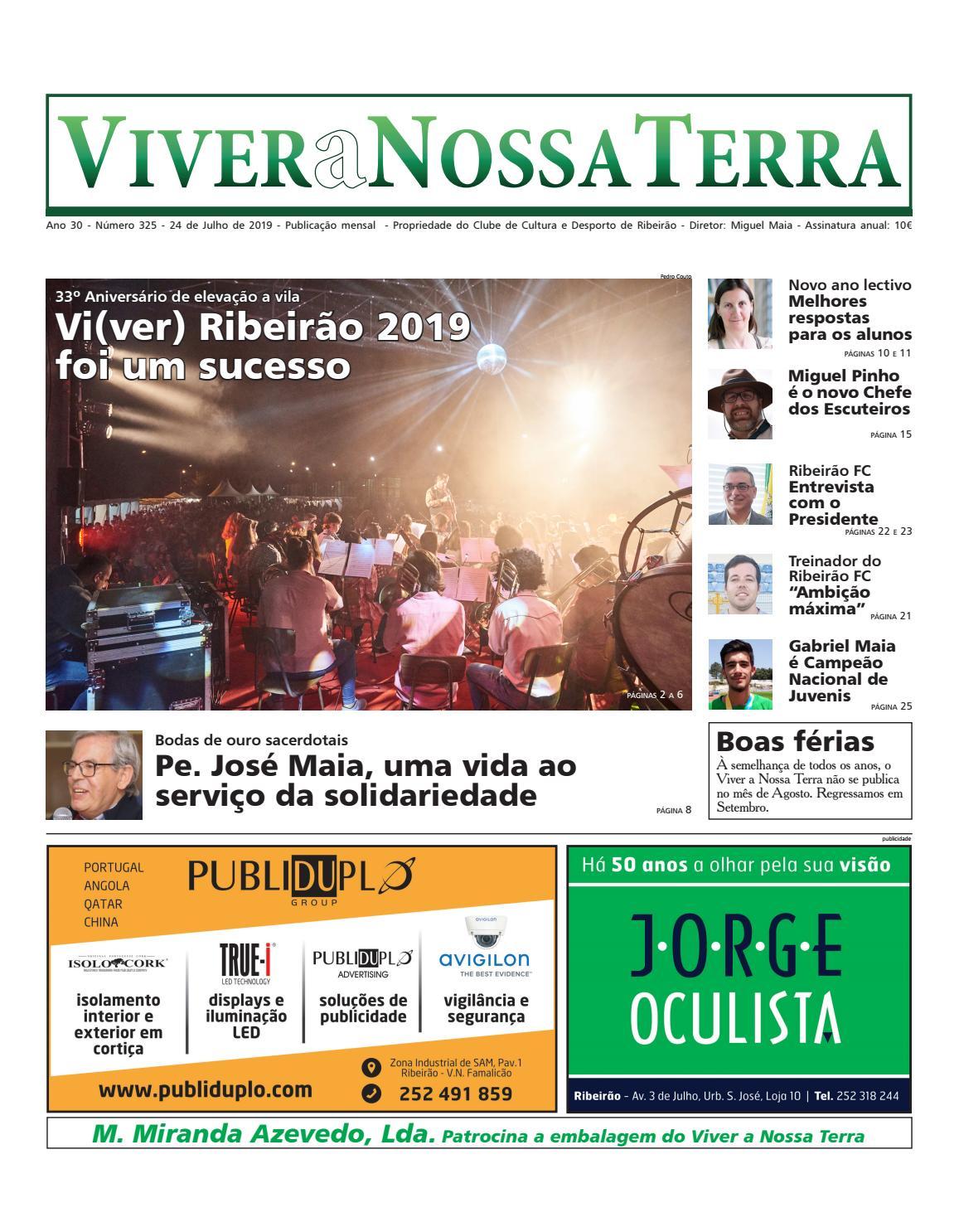 Viver A Nossa Terra Julho 2019 By Jornal Viver A Nossa