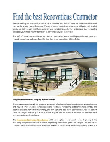 Find The Best Renovations Contractor By C M Combs
