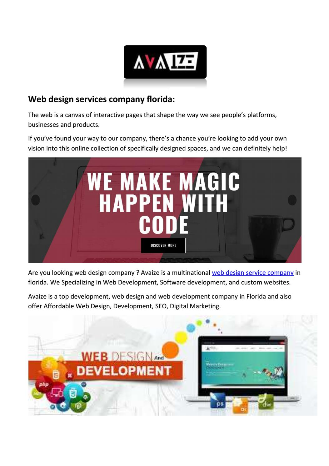 Top Web Design Company Florida By Albertmccarty Issuu