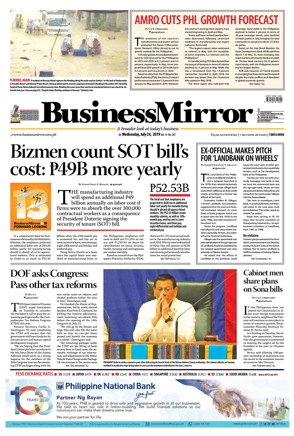 BusinessMirror July 24, 2019 by BusinessMirror - issuu