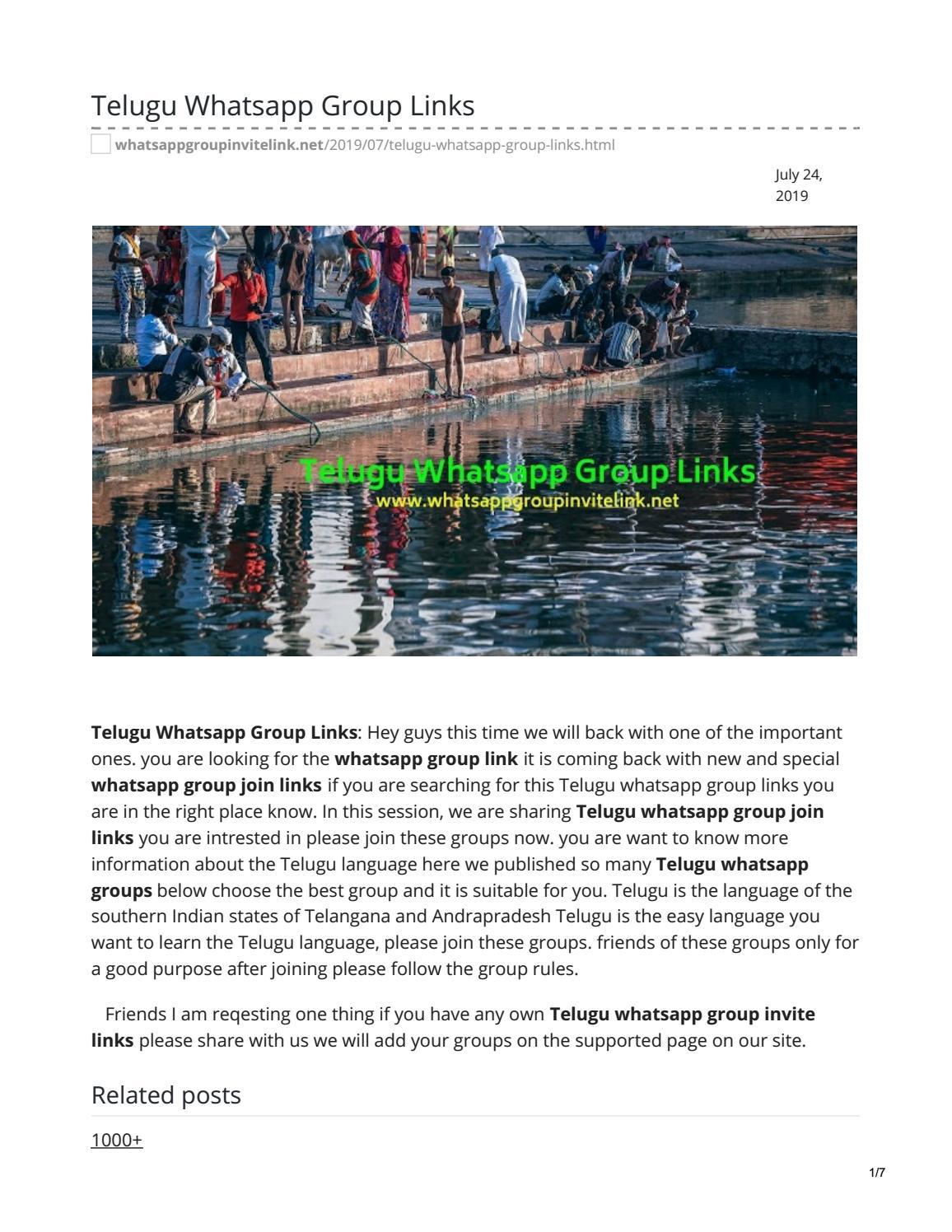 Telugu Whatsapp Group Links by whatsappgrouplink77 - issuu