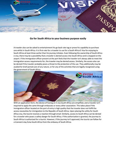 South Africa visa by Evisa South Africa - issuu