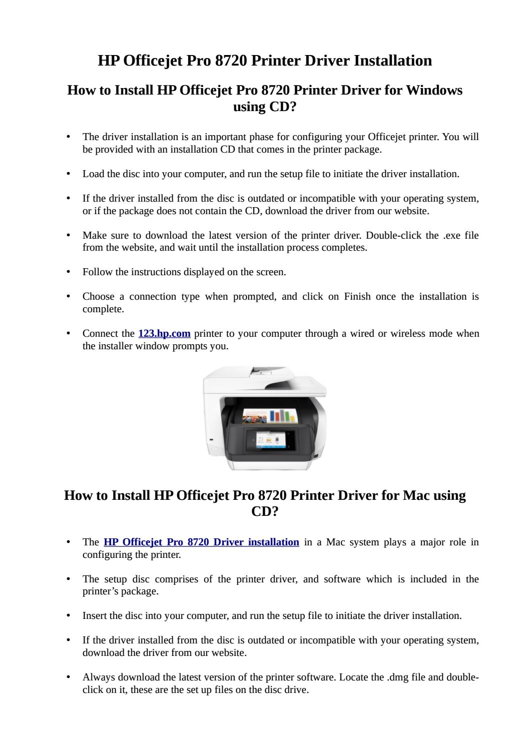 How To Install Hp Officejet Pro 8720 Driver Using Cd By Jack Leach Issuu