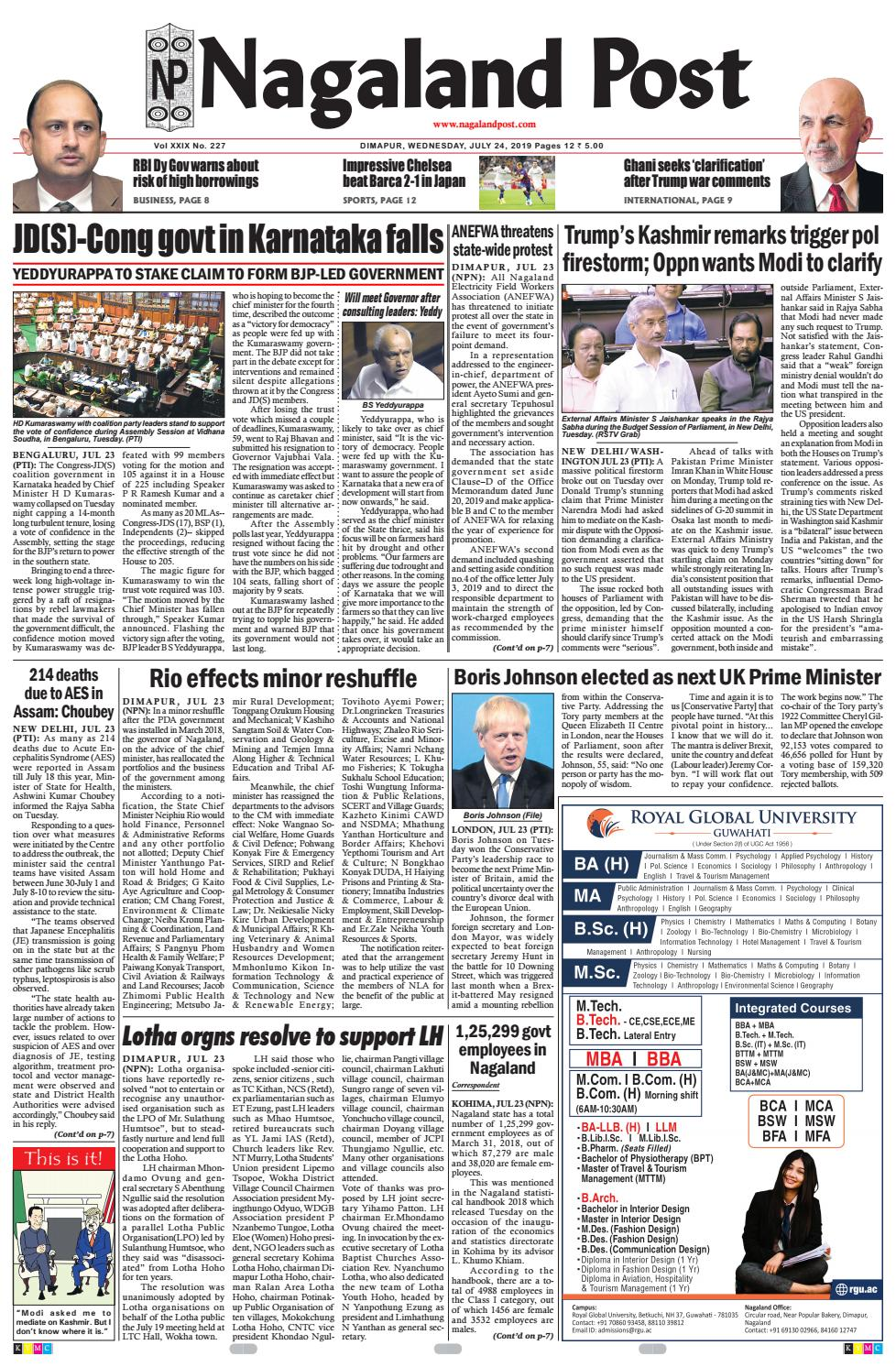 July 24, 2019 by Nagaland Post - issuu