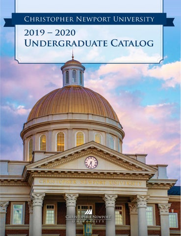 Calendrier Avent Kinder 2020.2019 2020 Undergraduate Catalog By Christopher Newport
