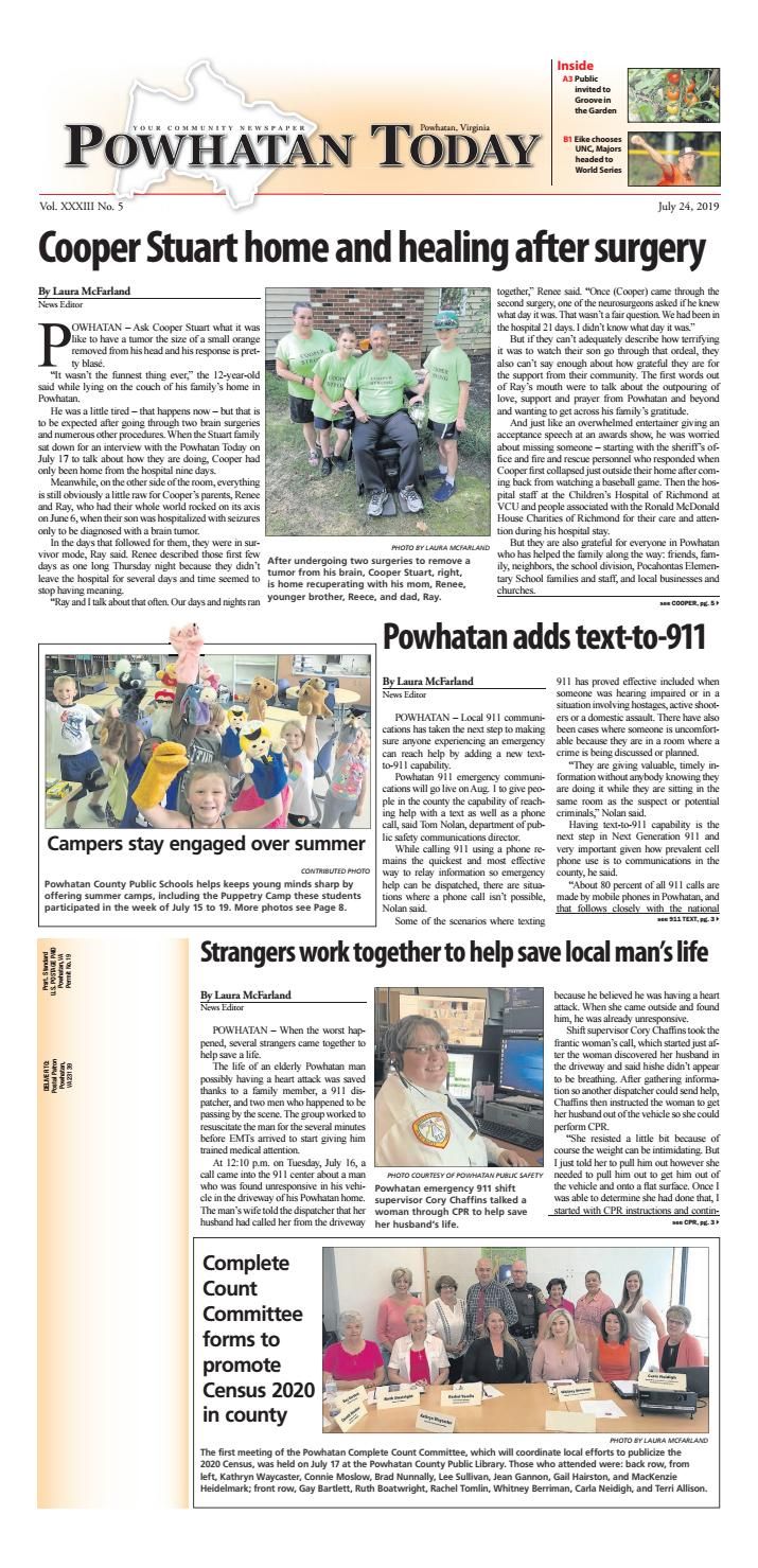 07/24/2019 by Powhatan Today - issuu