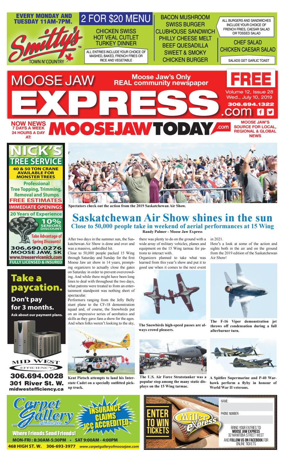Moose Jaw Express July 10th, 2019 by Moose Jaw Express - issuu