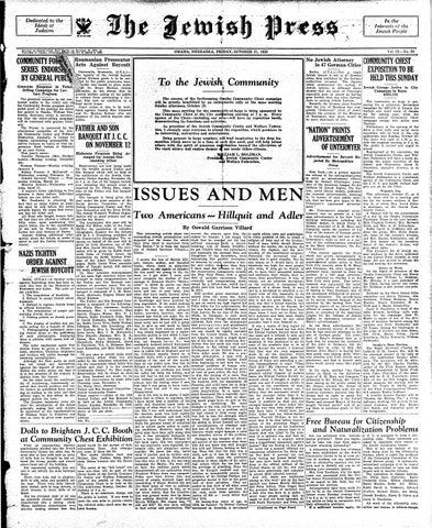 October 27, 1933 by Jewish Press - issuu