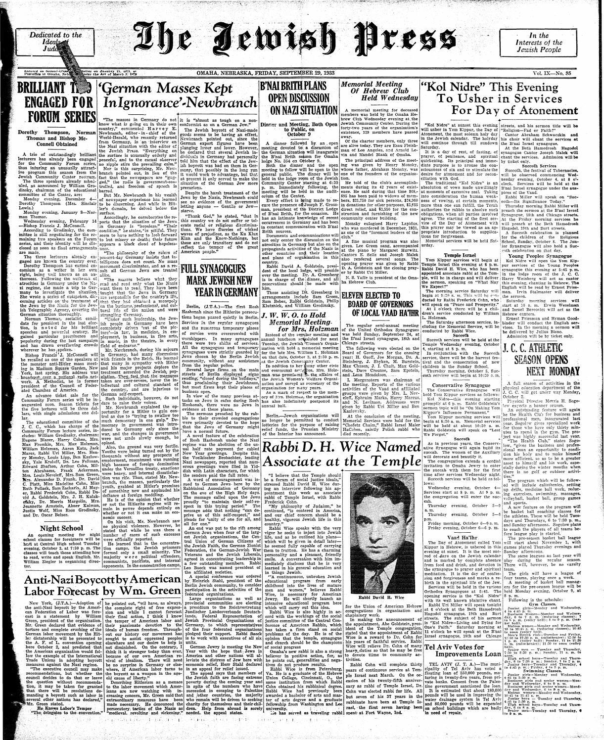 64db3b6dc31 September 29, 1933 by Jewish Press - issuu