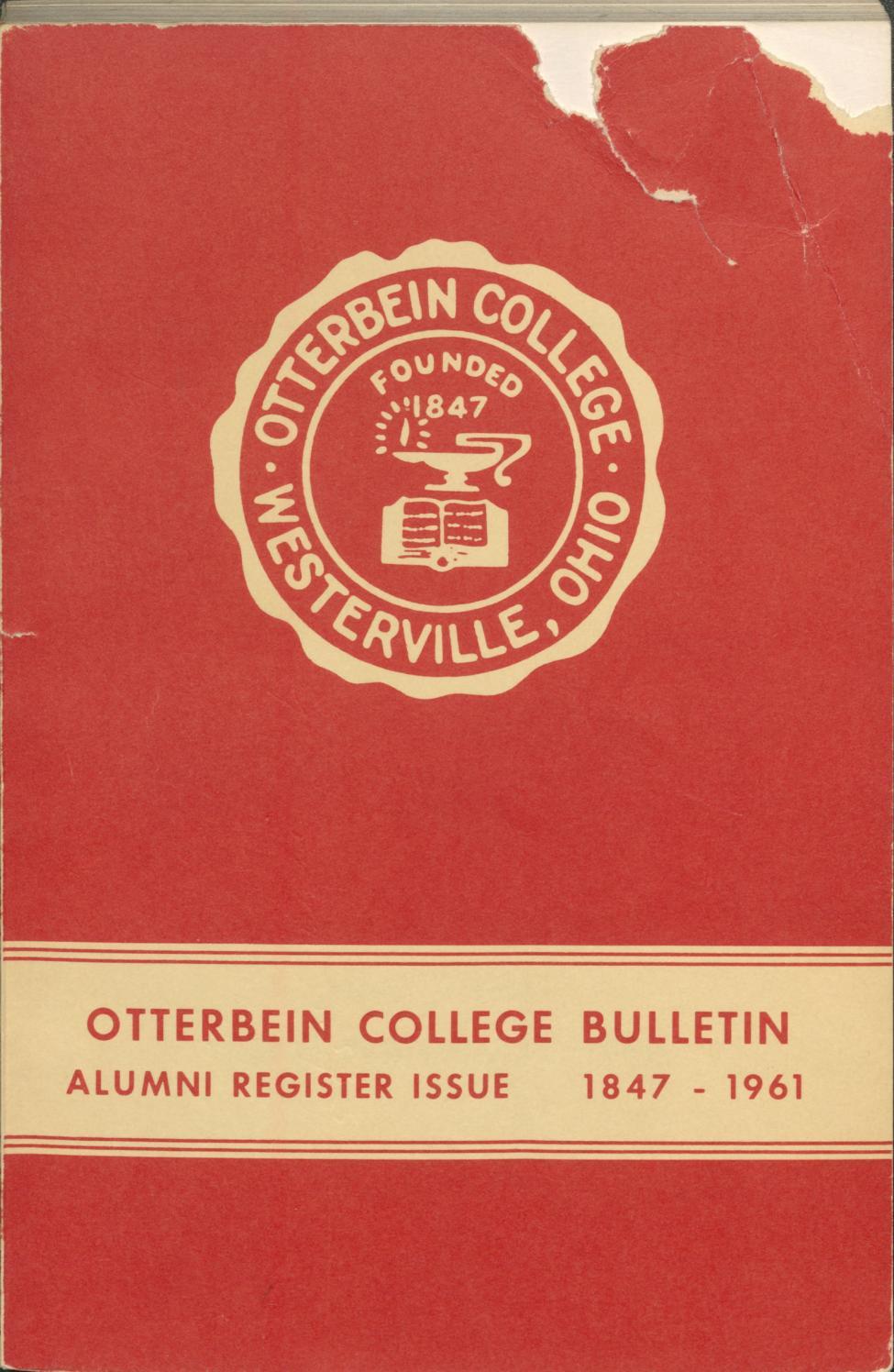 1847-1961 College Bulletin by Otterbein University - issuu