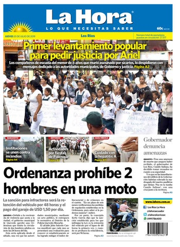c2e70a24ec7b Los Ríos 25 de julio de 2019 by Diario La Hora Ecuador - issuu