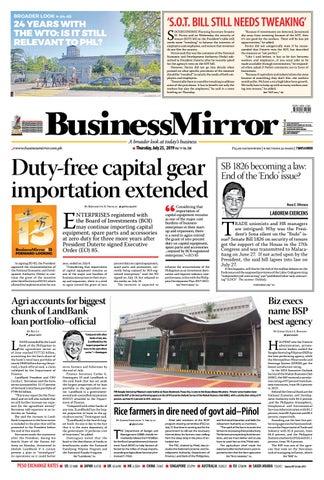 0d079b301cc BusinessMirror July 25, 2019 by BusinessMirror - issuu