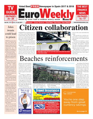 Euro Weekly News Axarquia 25 31 July 2019 Issue 1777 By
