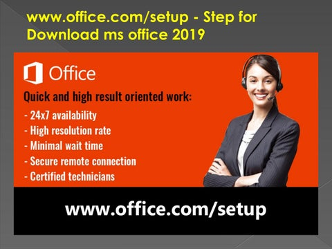 www office com/setup - Step for Download ms office 2019 by