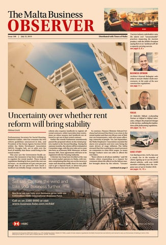 The Malta Business Observer, 25th July 2019 by Content House