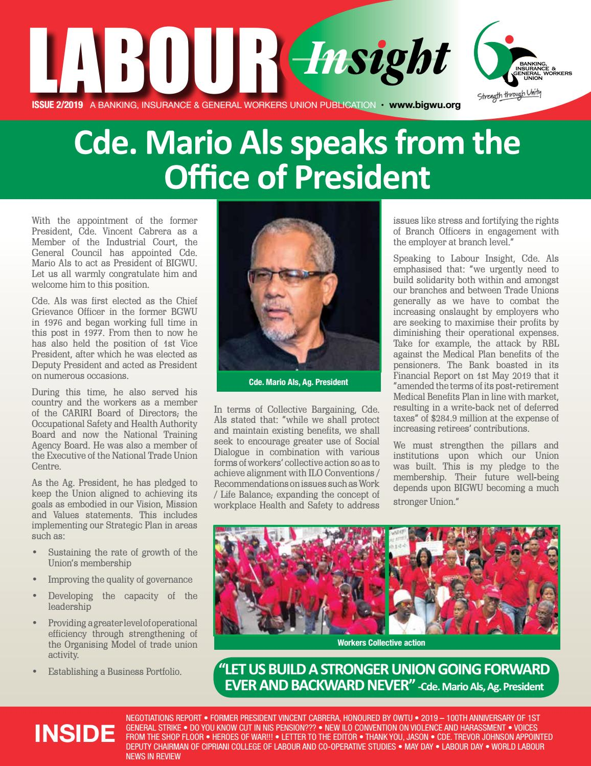 BIGWU Labour Insight Issue 2/2019 by Jean-Paul Bethelmy - issuu