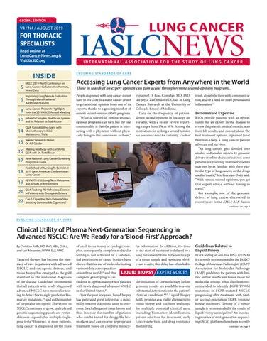 IASLC Lung Cancer News- V4, N4 by IASLC - issuu