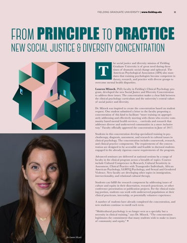Page 11 of From Principle to Practice. New Social Justice & Diversity Concentration