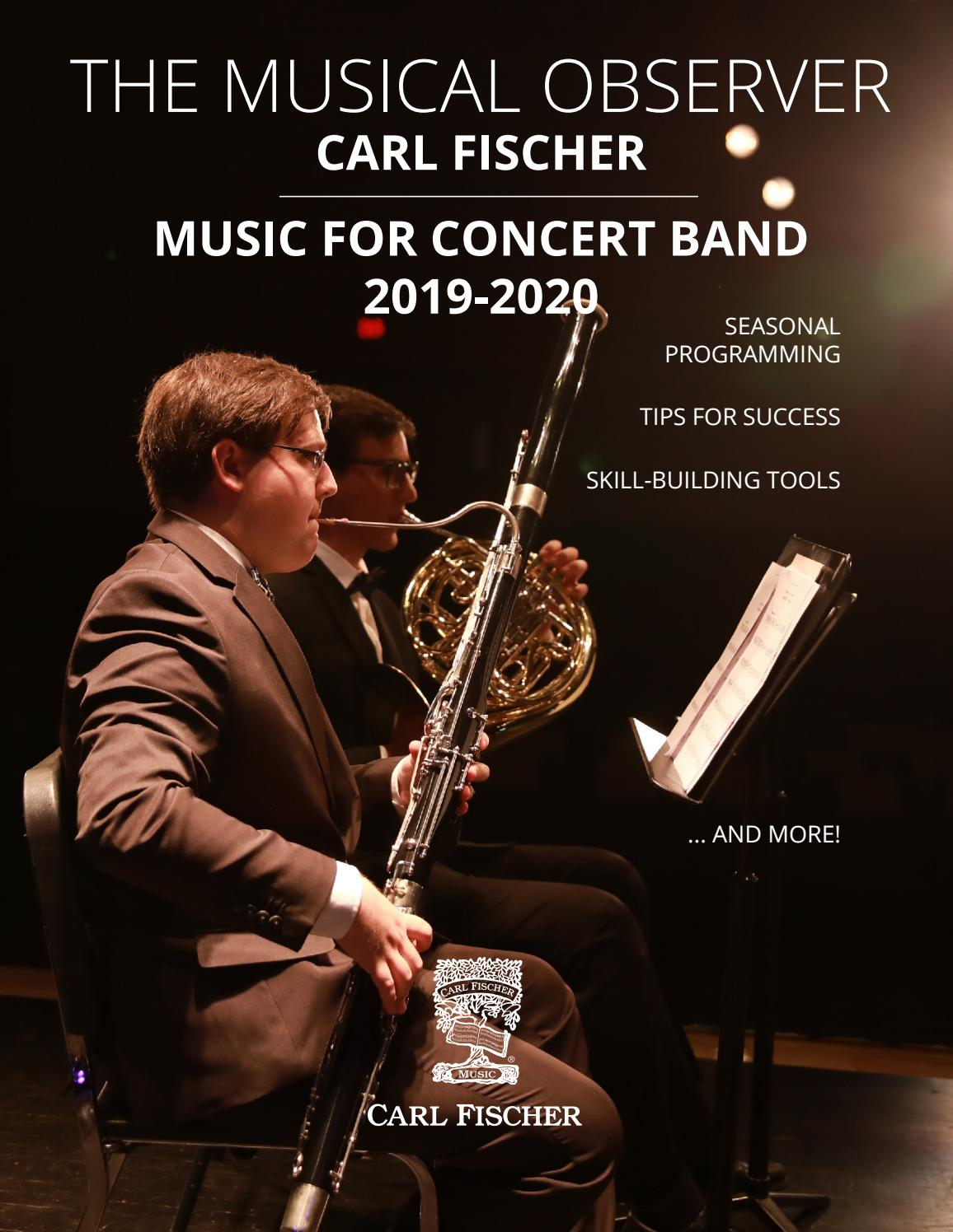 The Musical Observer: Music for Concert Band 2019 - 2020 by