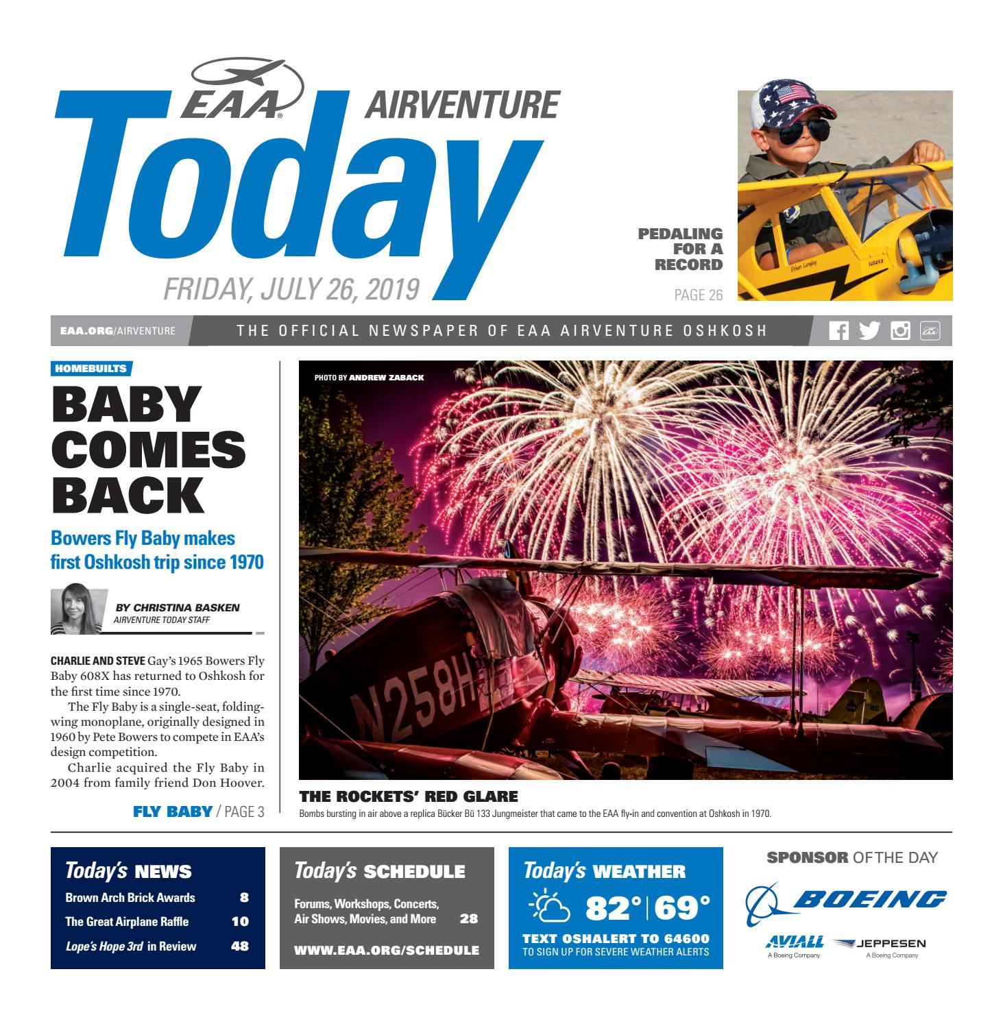 EAA AirVenture Today - Friday, July 26, 2019 by EAA