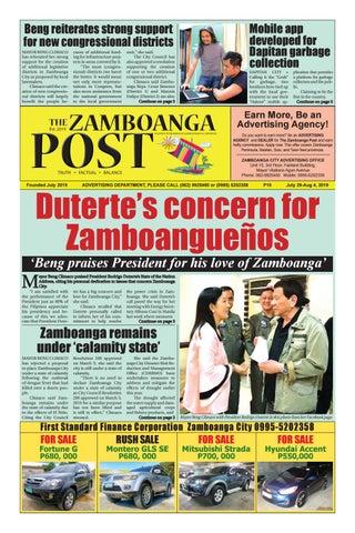 The Zamboanga Post July 29 Aug 4 2019 By Mindanao