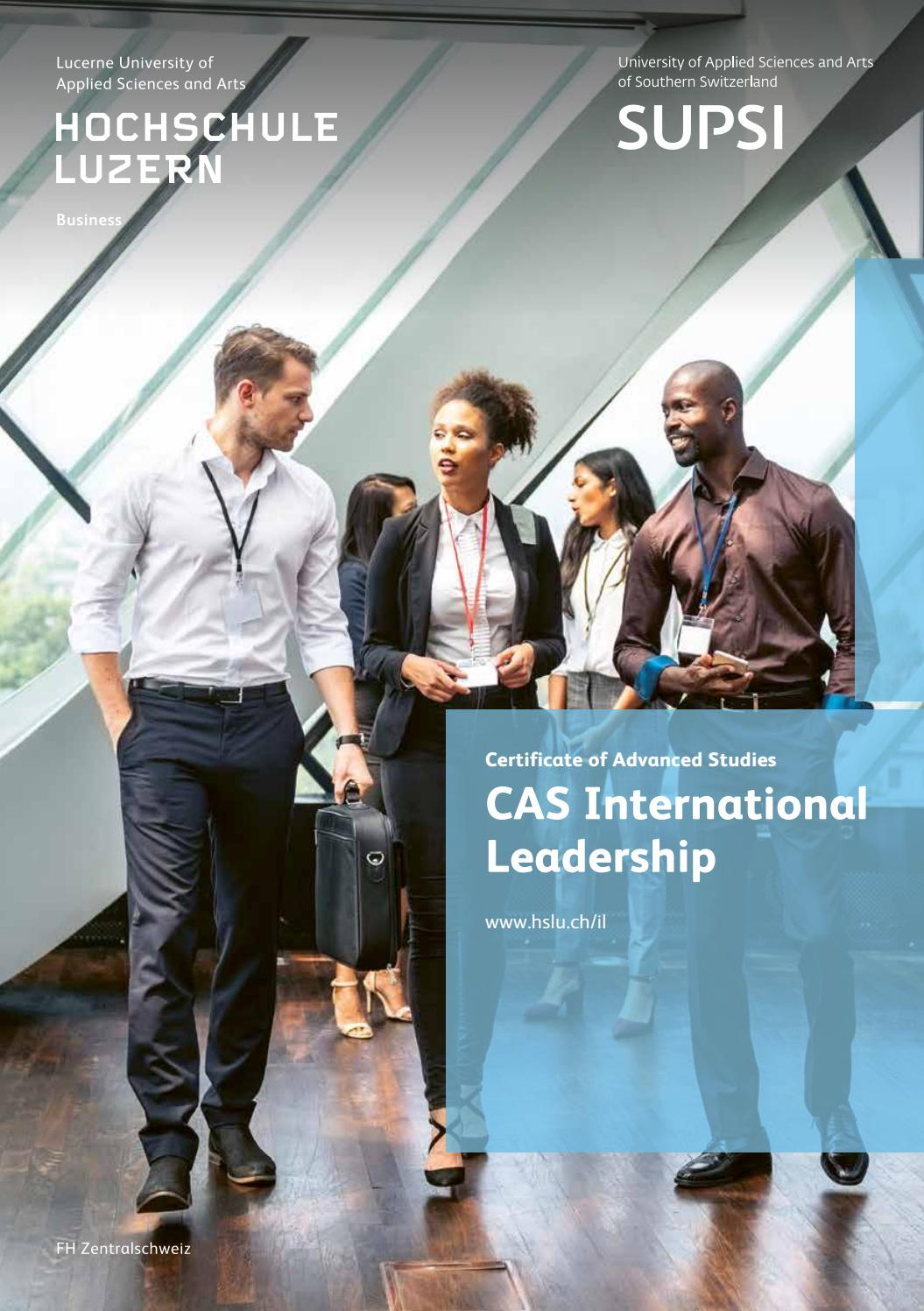 Cas International Leadership By Hochschule Luzern Issuu