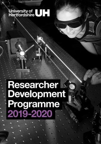 Researcher Development Programme 2019-2020 by University of